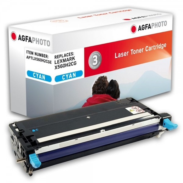 AGFA Photo Toner cyan X560H2CGE für Lexmark X560