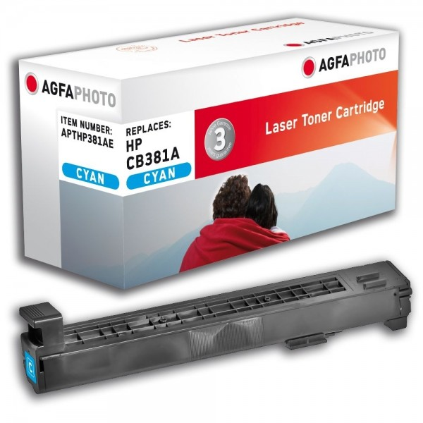 AGFA Photo Toner Cyan HP381AE HP Color LaserJet CP6015 CM6030 6040