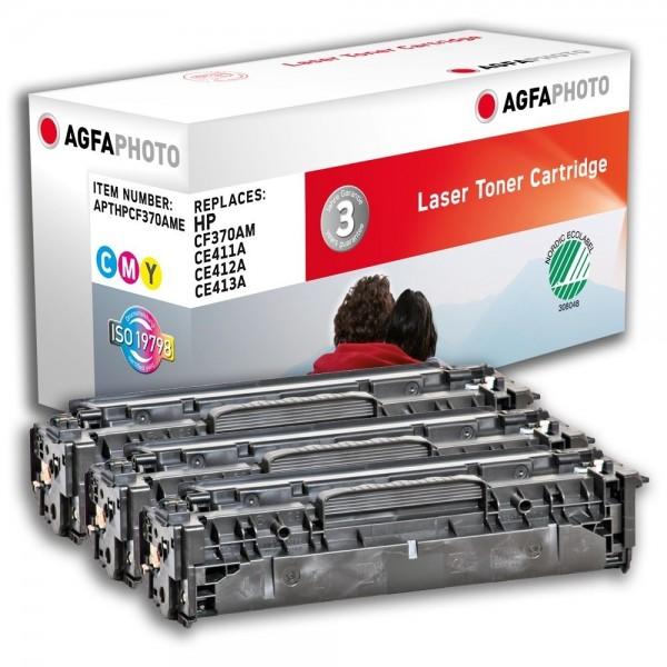 AGFA Photo Toner cyan,magenta,gelb Multipack HPCF370AME für HP LaserJet PRO 300 Color M351A