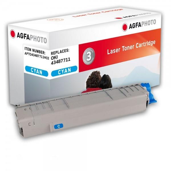 AGFA Photo Toner cyan 43487711HC für OKI C8600 C8800