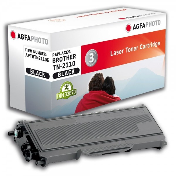 AGFA Photo Toner schwarz TN-2110E für Brother DCP-7030